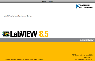 Info LabVIEW Splash Screen